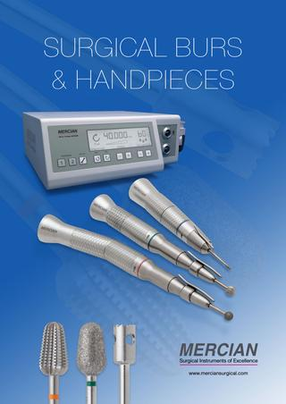 Mercian Surgical Burs and Hand Pieces